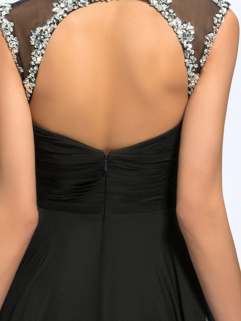 Ericdress Beading Split Front Backless Mother of the Bride Dress