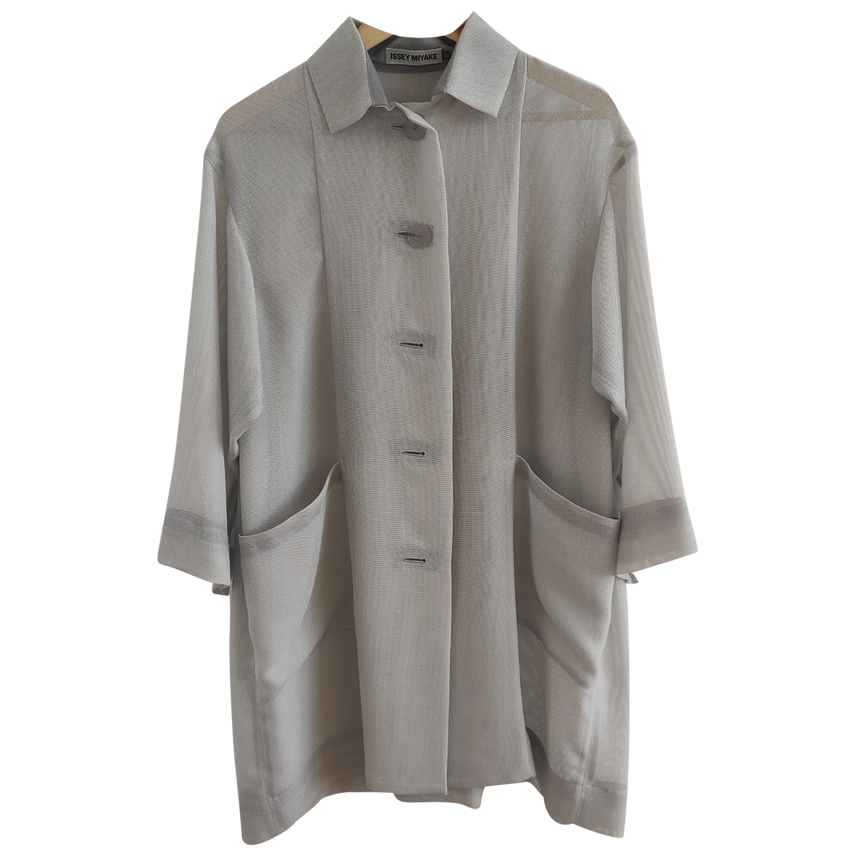 Issey Miyake - Manteau   pour femme - gris