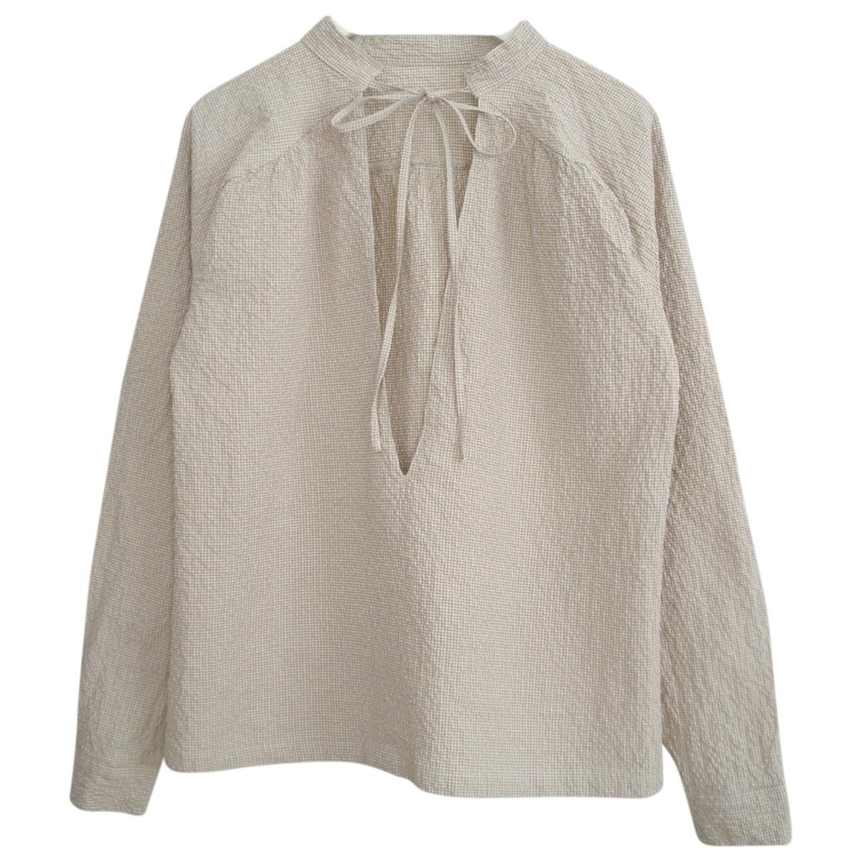 - Top   pour femme en coton - beige