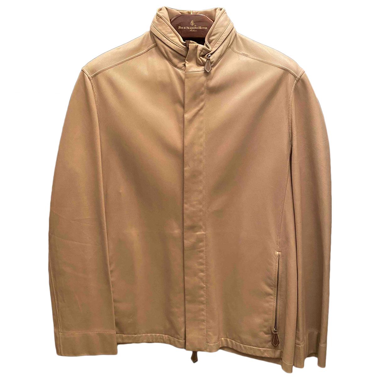 Hermes - Vestes.Blousons   pour homme en cuir - beige