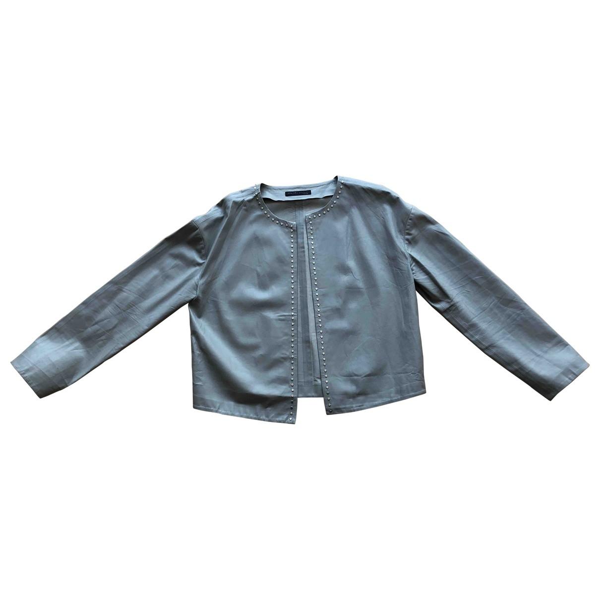 Fabiana Filippi \N Grey Leather Leather jacket for Women 12 UK