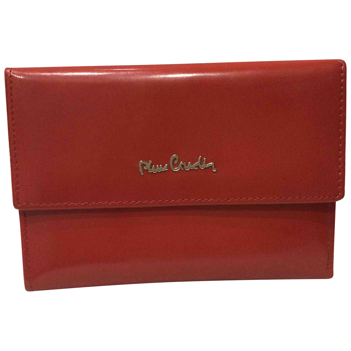 Pierre Cardin N Red Patent leather wallet for Women N