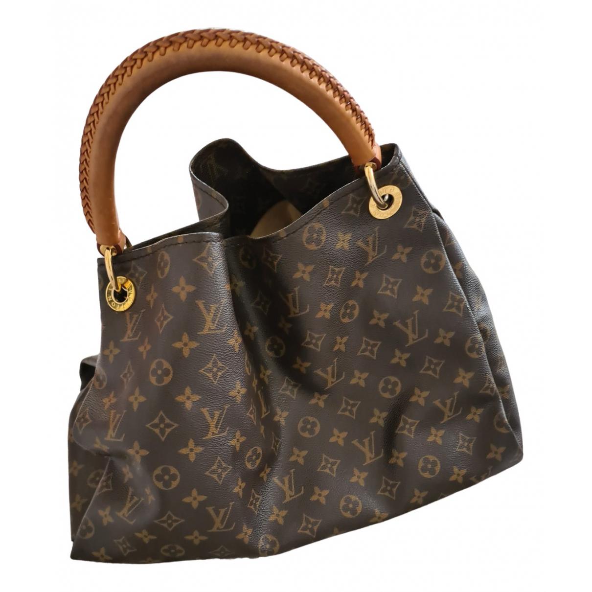 Louis Vuitton Artsy Handtasche in  Braun Leinen