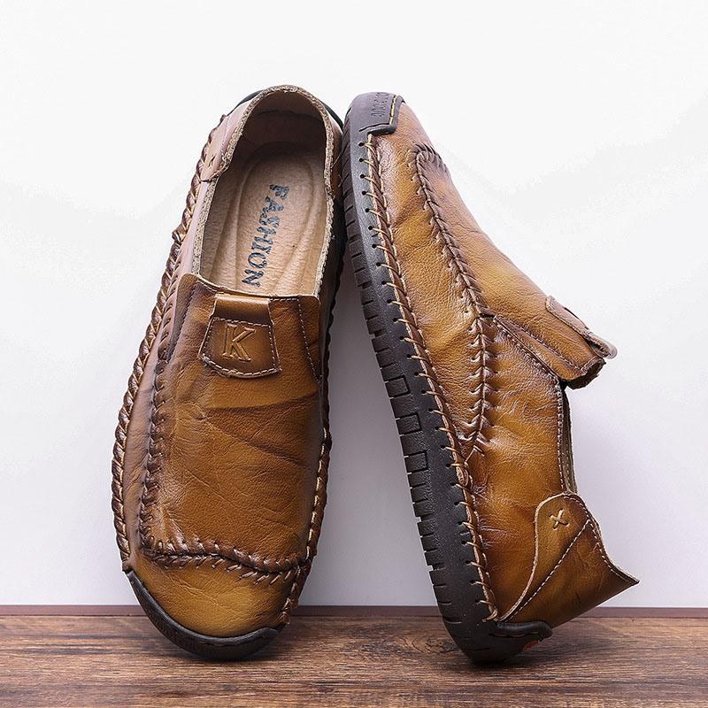 Ericdress Plain Slip-On Round Toe Men's Simple Shoes