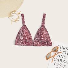 Dreieckiges Bikini Top mit Dalmatiner Muster
