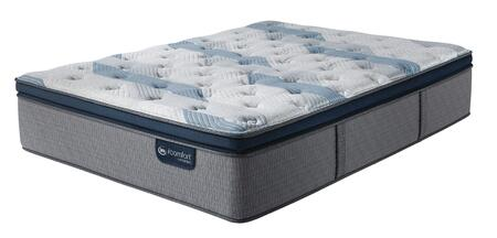 iComfort Hybrid 500820573-1010 Blue Fusion 300 14H Twin Size Plush Pillow Top Mattress with EverCool Fuze Gel Foam  Pillow Soft HD Layer and