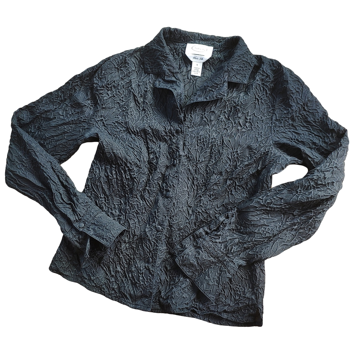 Non Signé / Unsigned \N Black Silk  top for Women 36 FR