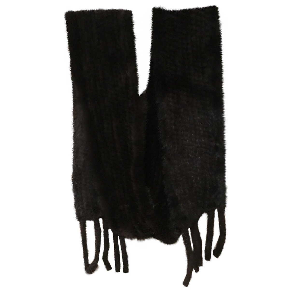 Non Signé / Unsigned \N Brown Mink scarf for Women \N