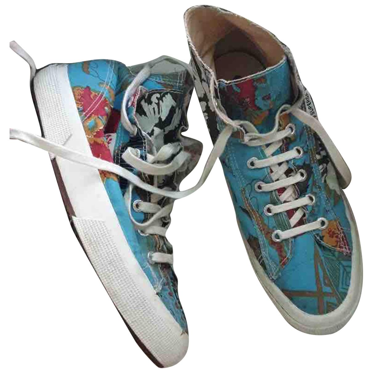 Superga \N Sneakers in  Bunt Leinen