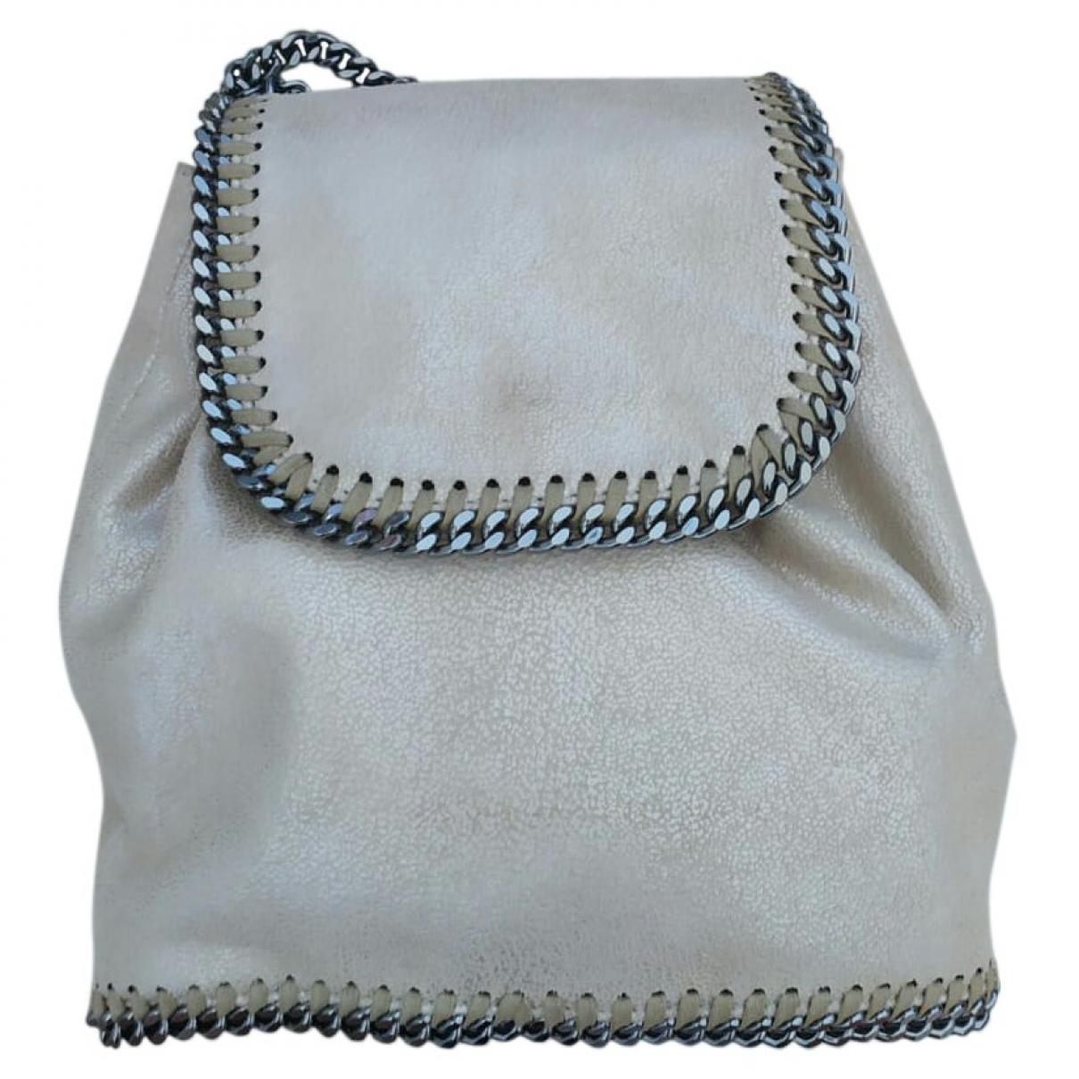Stella Mccartney Falabella Beige Cloth backpack for Women \N