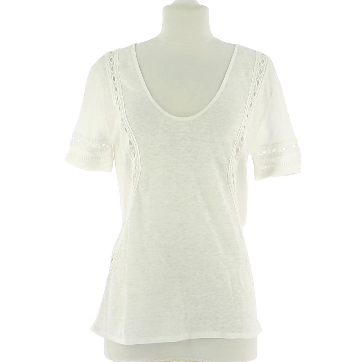 Ikks - Top   pour femme en lin - blanc