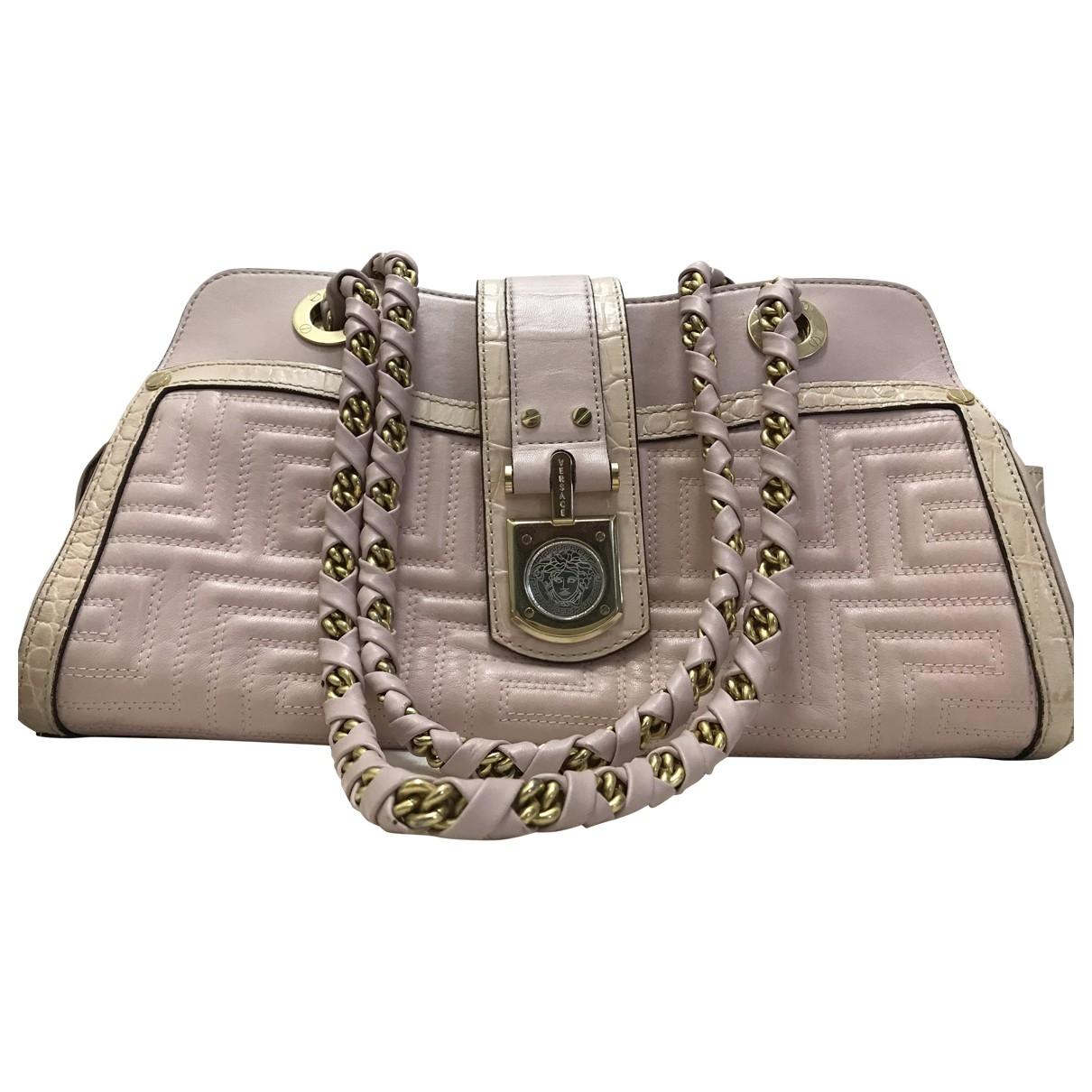 Versace \N Handtasche in  Rosa Lackleder
