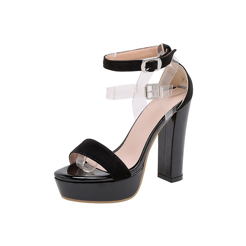 Ericdress Line-Style Buckle Chunky Covering Casual Sandals