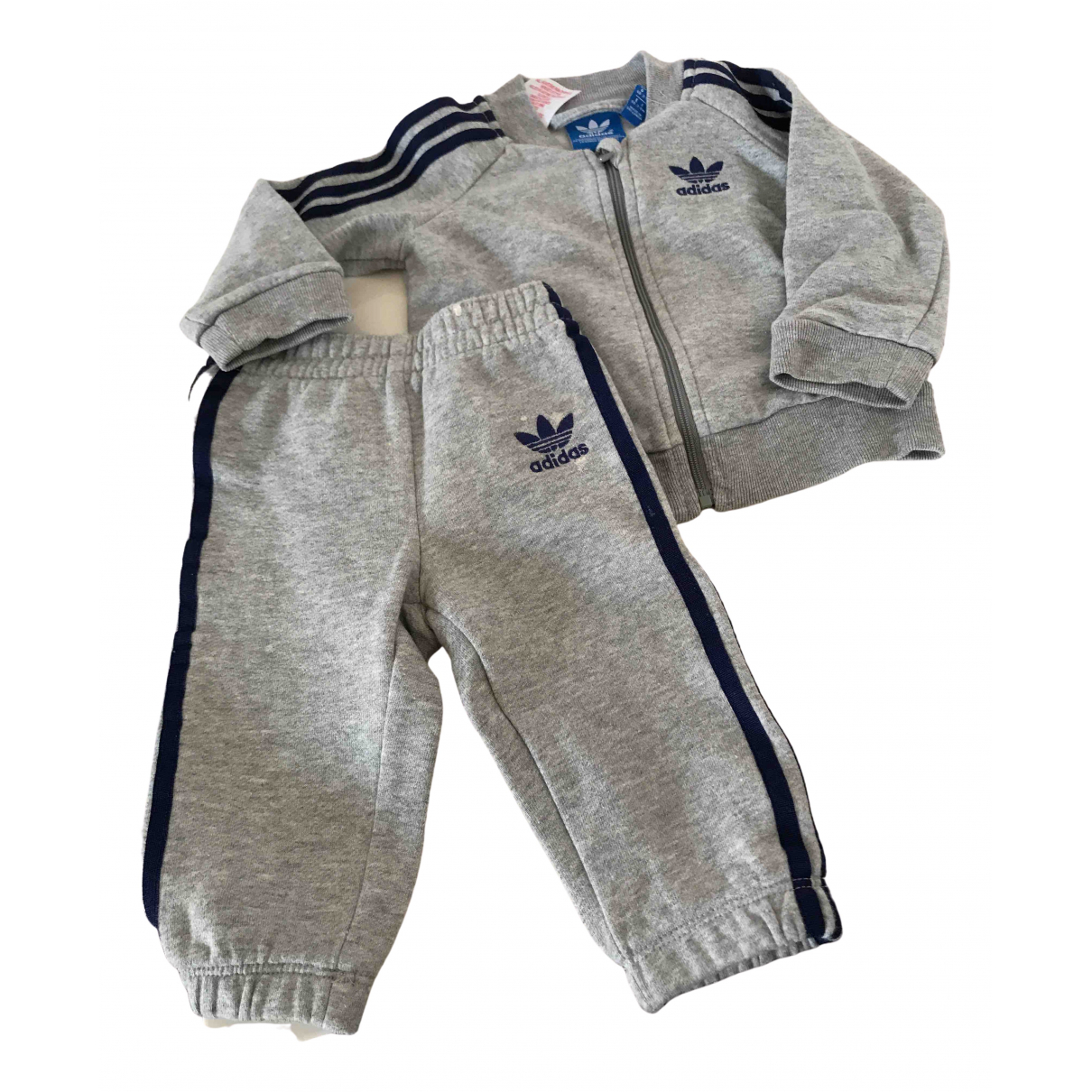 Adidas N Grey Cotton Outfits for Kids 6 months - up to 67cm FR