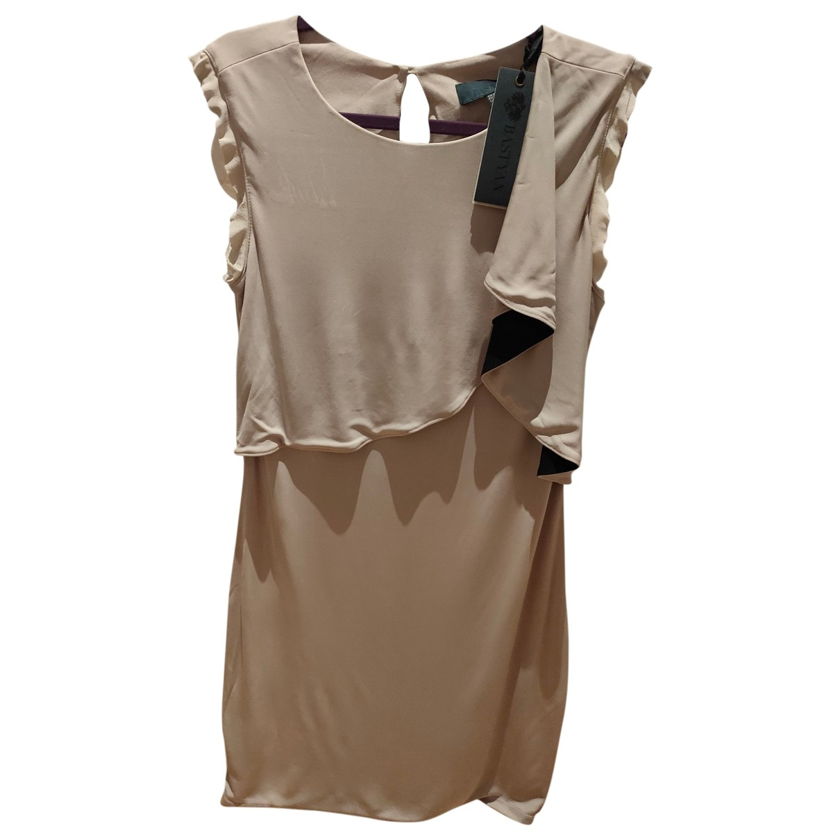 Bastyan \N Beige Cotton - elasthane dress for Women 38 FR