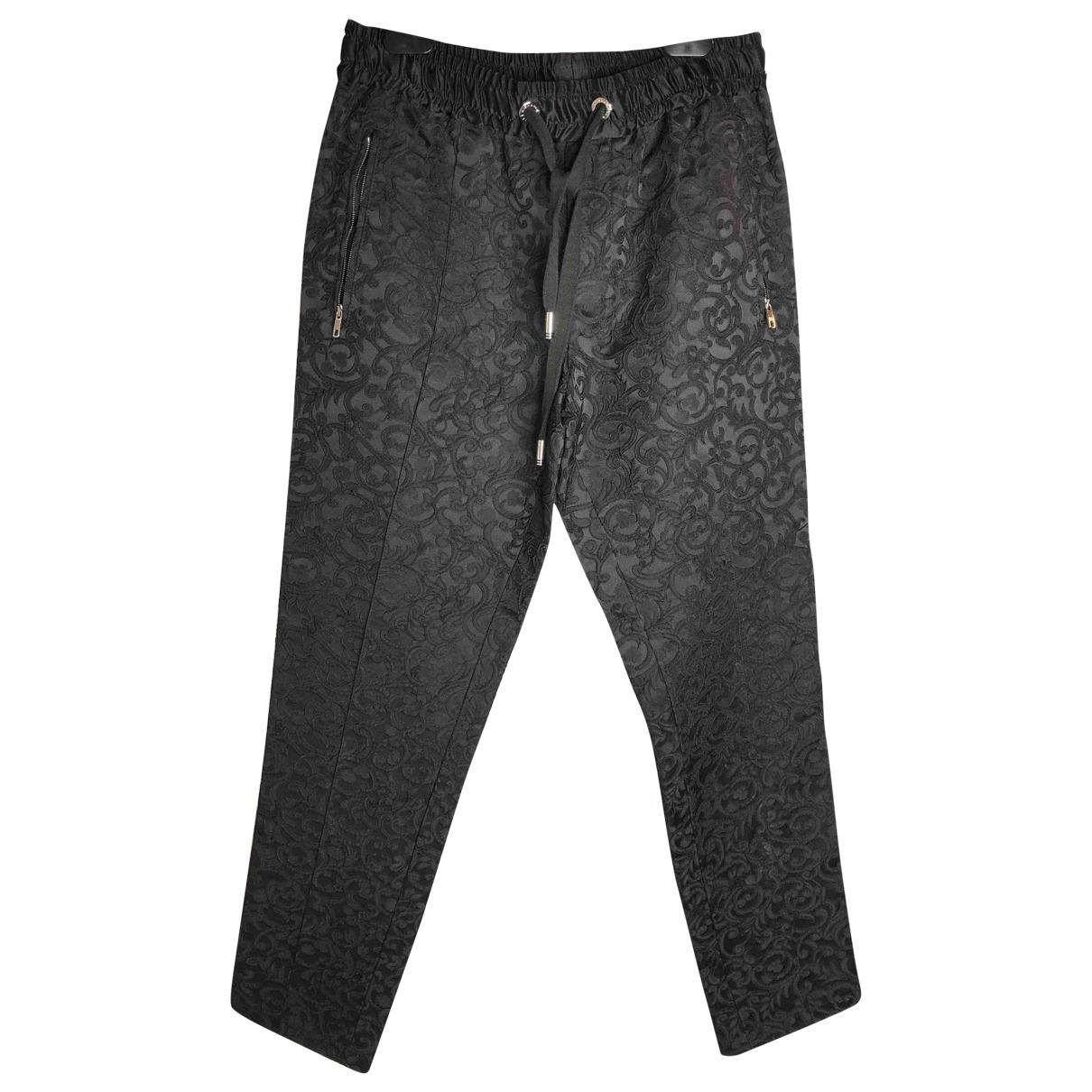 Dolce & Gabbana - Pantalon   pour homme en soie - noir