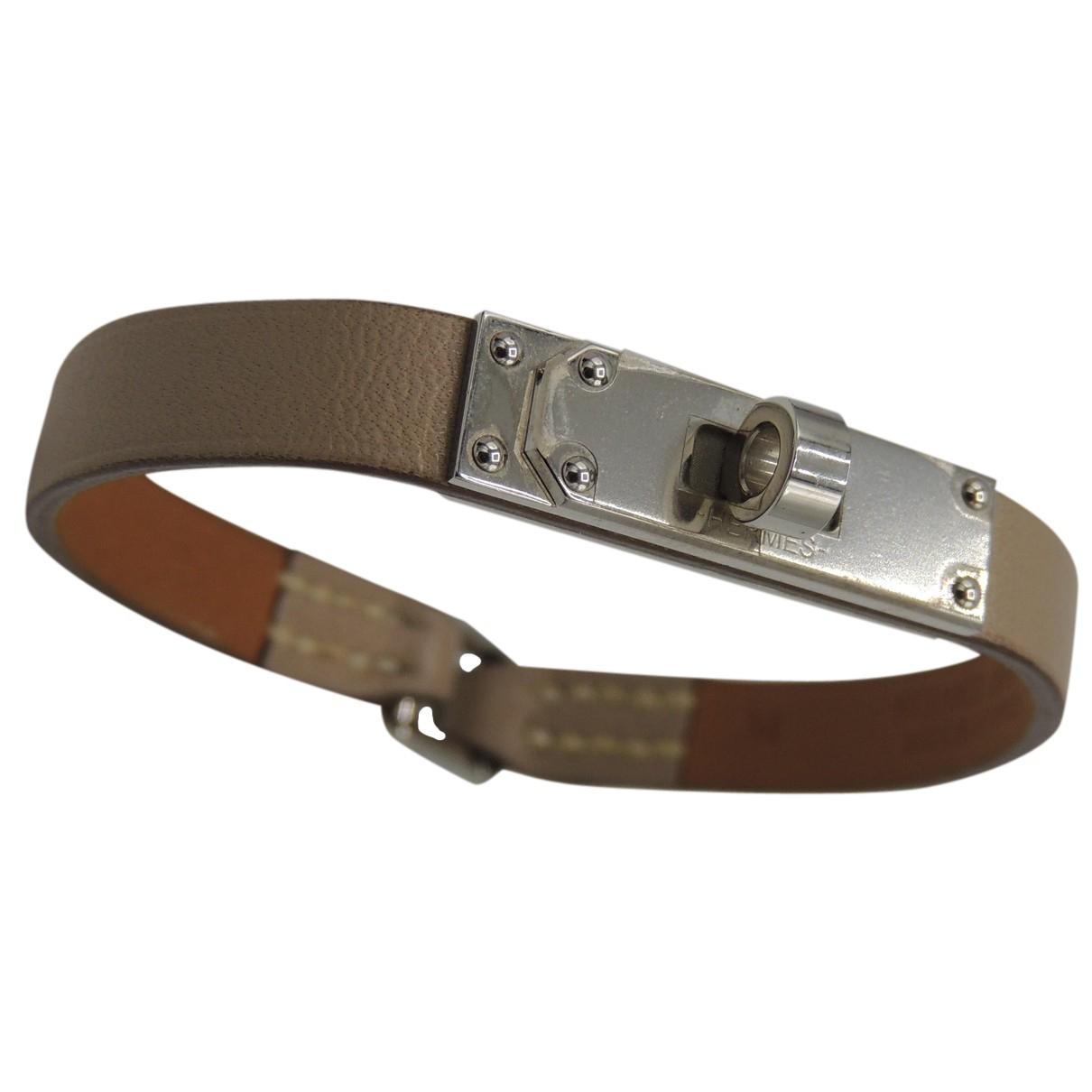 Hermes Kelly Armband in  Beige Leder