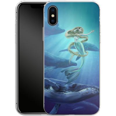 Apple iPhone X Silikon Handyhuelle - Ocean Song von Selina Fenech