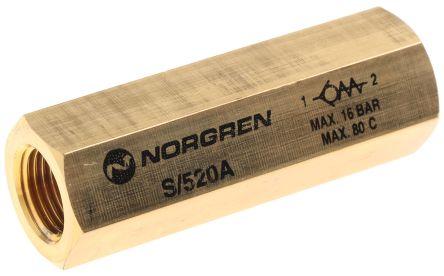 Norgren S/520 Non Return Valve G 1/8 Female Inlet, G 1/8 Female Outlet, 0.3 → 16bar