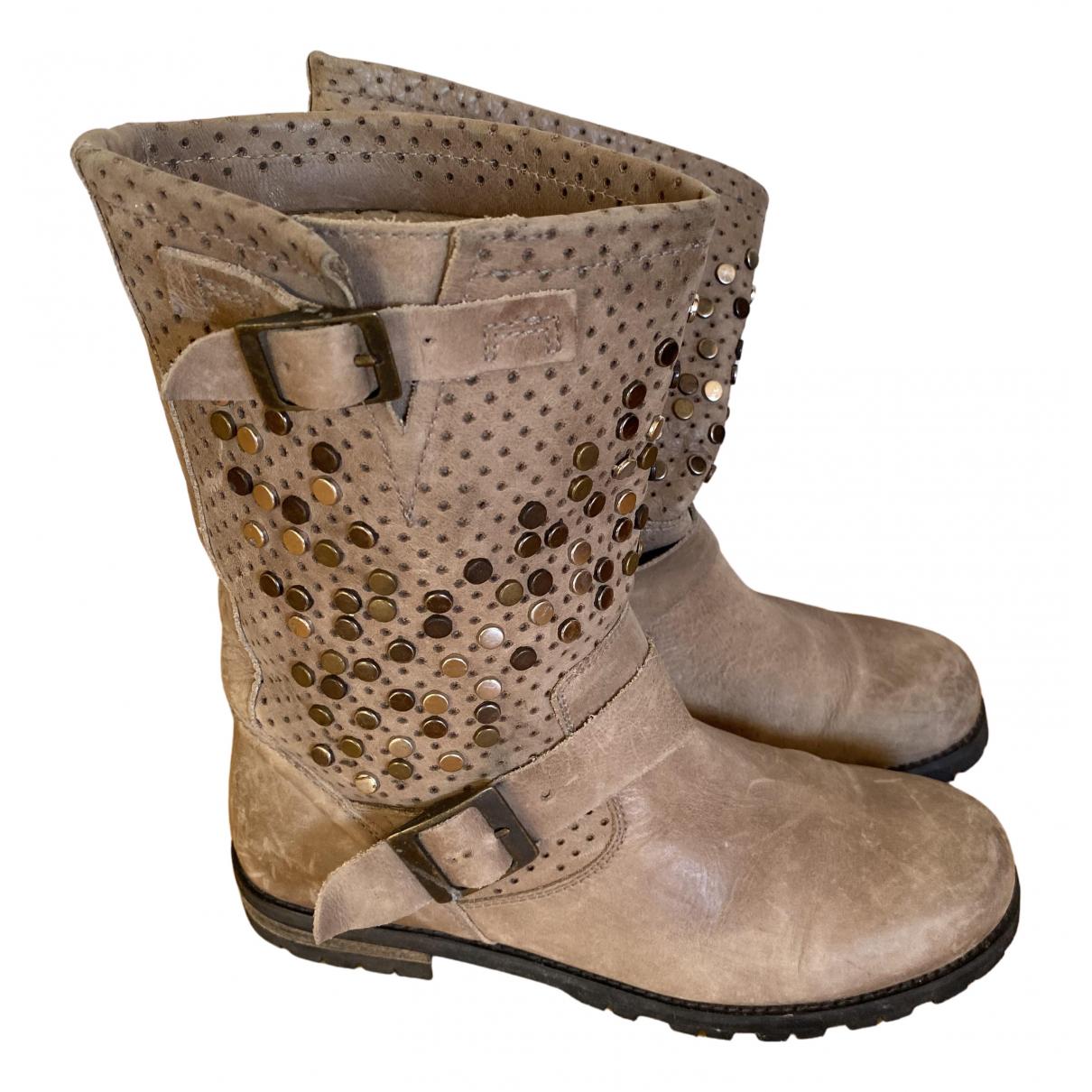 Buffalo \N Grey Leather Boots for Women 39 EU