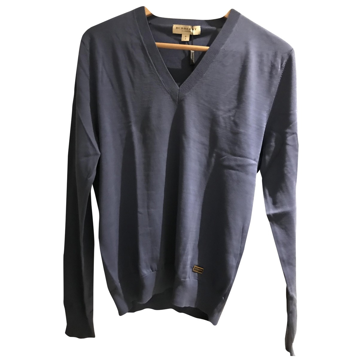 Burberry \N Pullover.Westen.Sweatshirts  in  Marine Baumwolle
