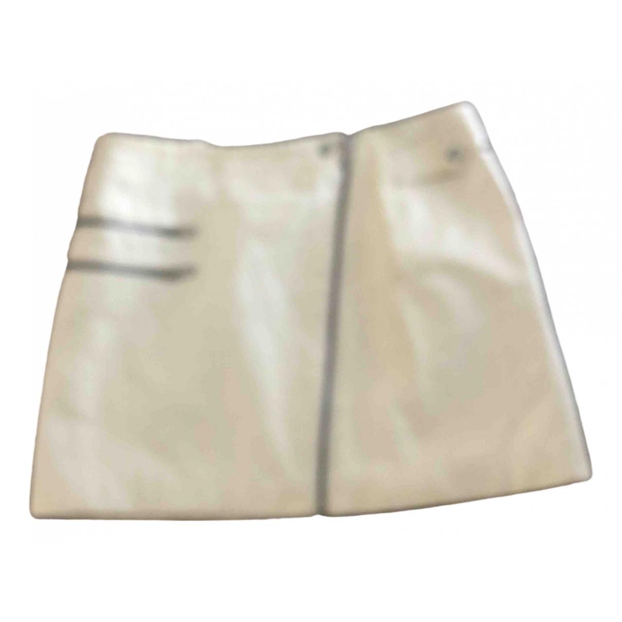 Rag & Bone - Jupe   pour femme en cuir - blanc