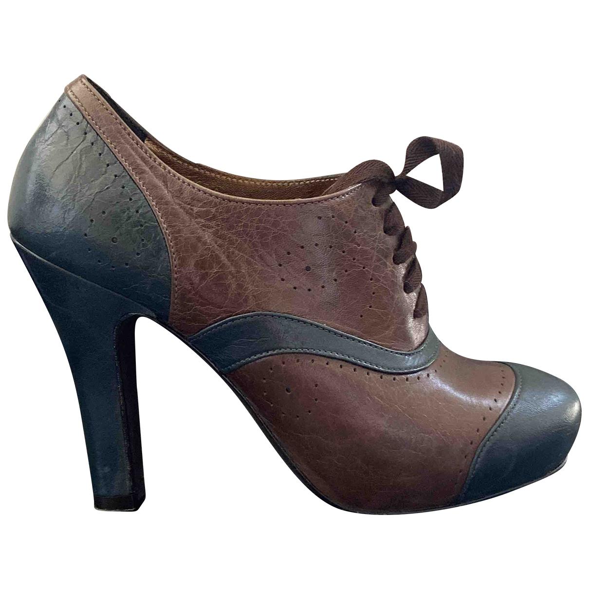 Jaime Mascaro \N Brown Patent leather Heels for Women 37 EU