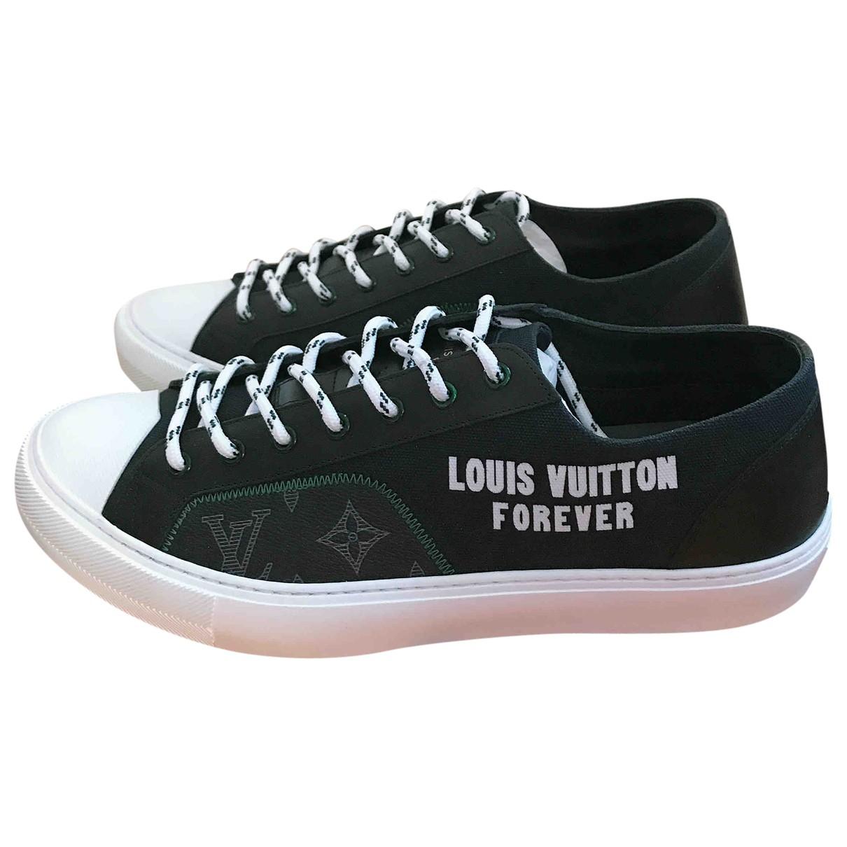 Louis Vuitton LV Tattoo Alpes  Black Cloth Trainers for Men 9 UK