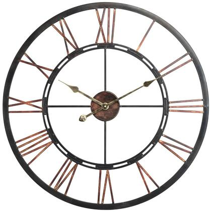 40223 Mallory Clock in Aged Copper Finish with Black