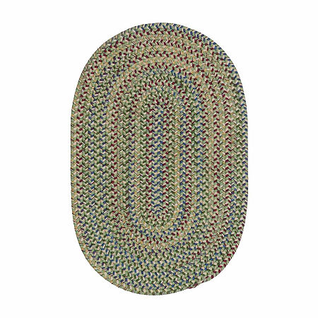 Colonial Mills Andreanna Reversible Braided Oval Rug, One Size , Green