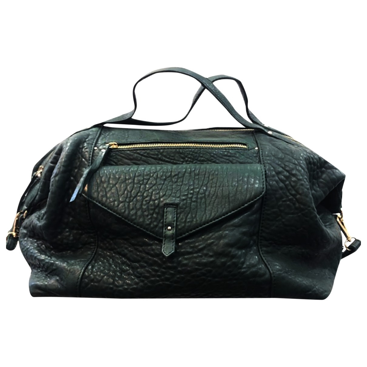 Petite Mendigote \N Handtasche in  Schwarz Leder