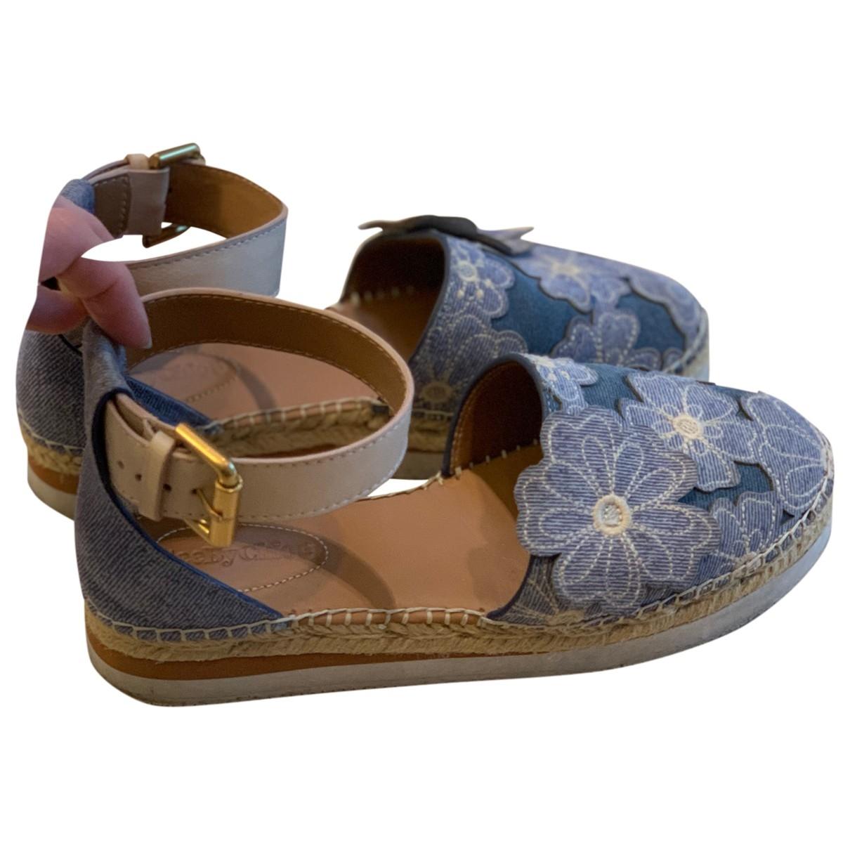 See By Chloe \N Espadrilles in  Blau Denim - Jeans