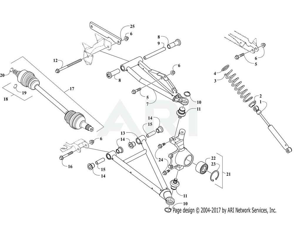 Arctic Cat OEM 0503-871 A Arm Front Upper Left Hand Blk Assembly | (Inc. 8 11)