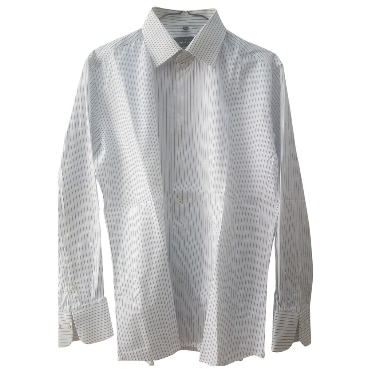 Louis Feraud \N White Cotton Shirts for Men L International