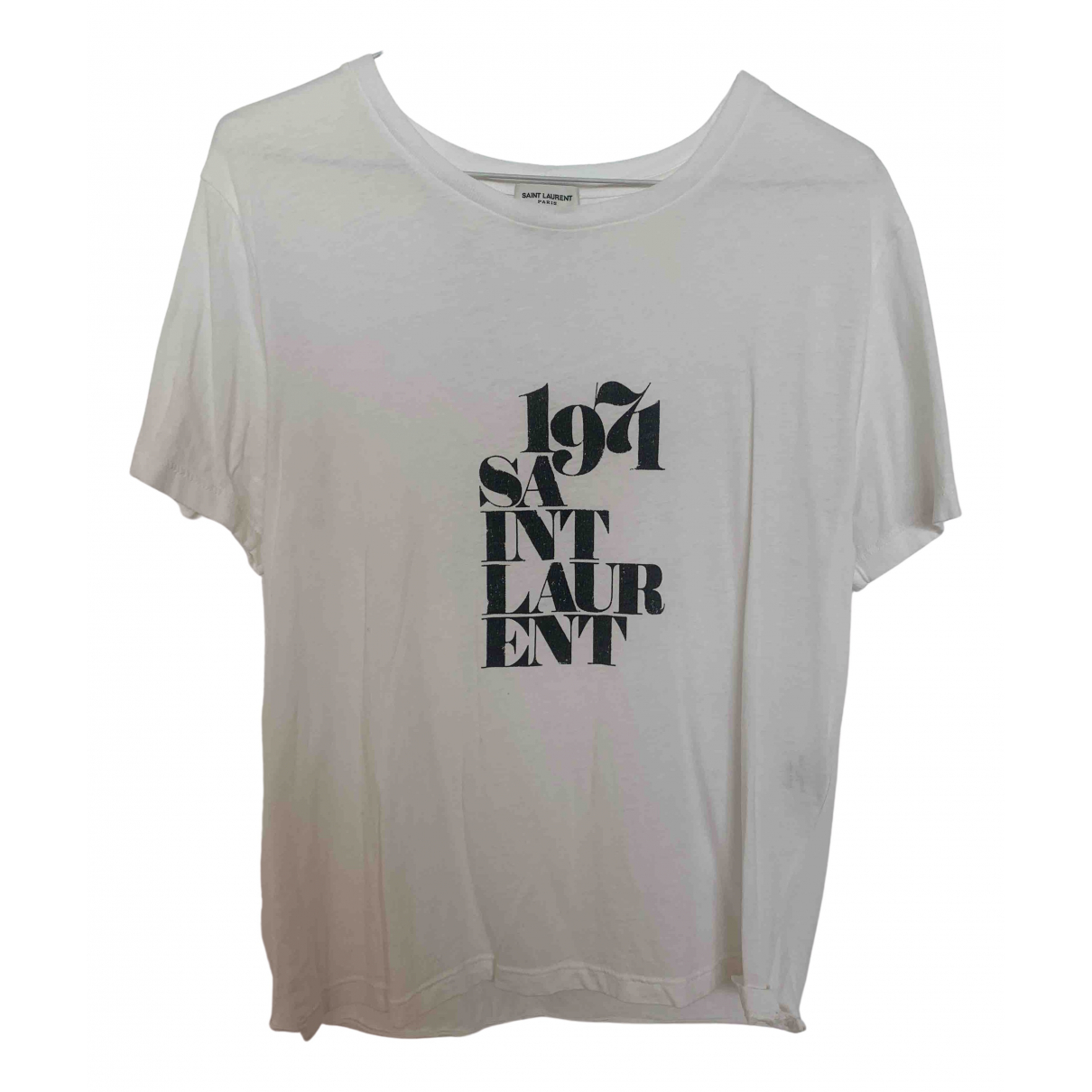 Saint Laurent N White Cotton  top for Women M International