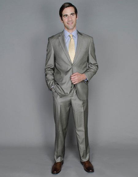 Men's Striped Two Buttons Single Breasted Giorgio Fiorelli Brand suits