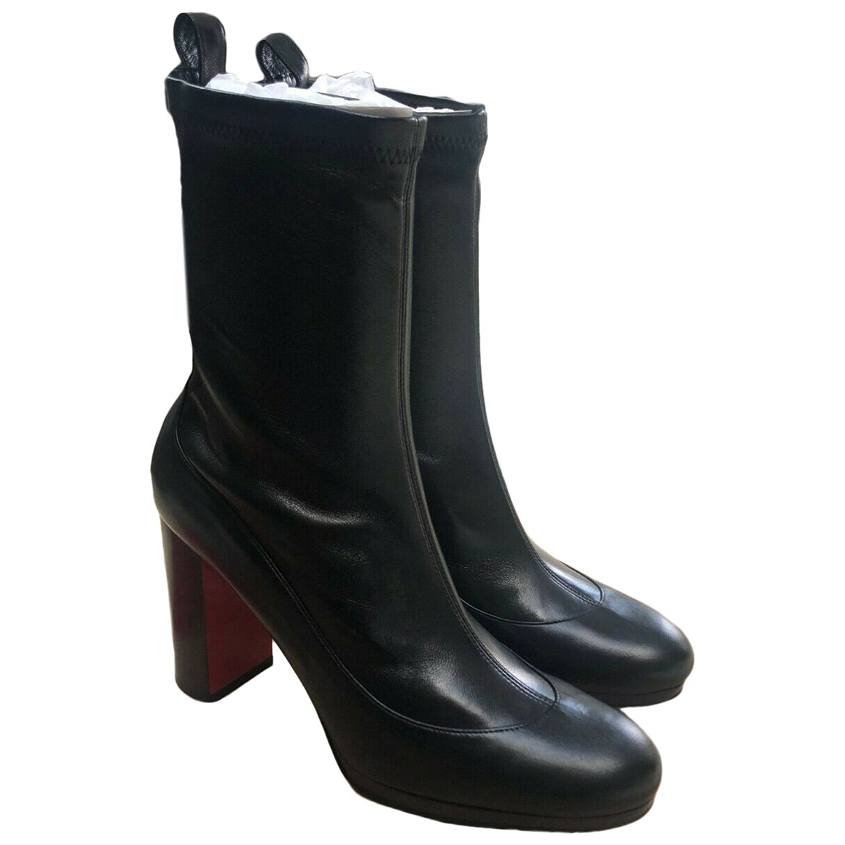 Christian Louboutin \N Black Leather Ankle boots for Women 35.5 EU