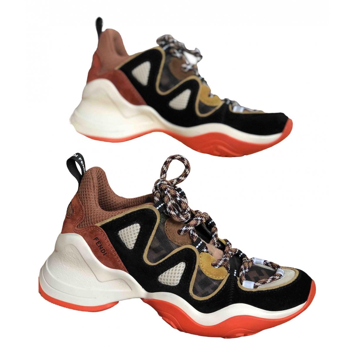 Fendi \N Sneakers in  Bunt Veloursleder