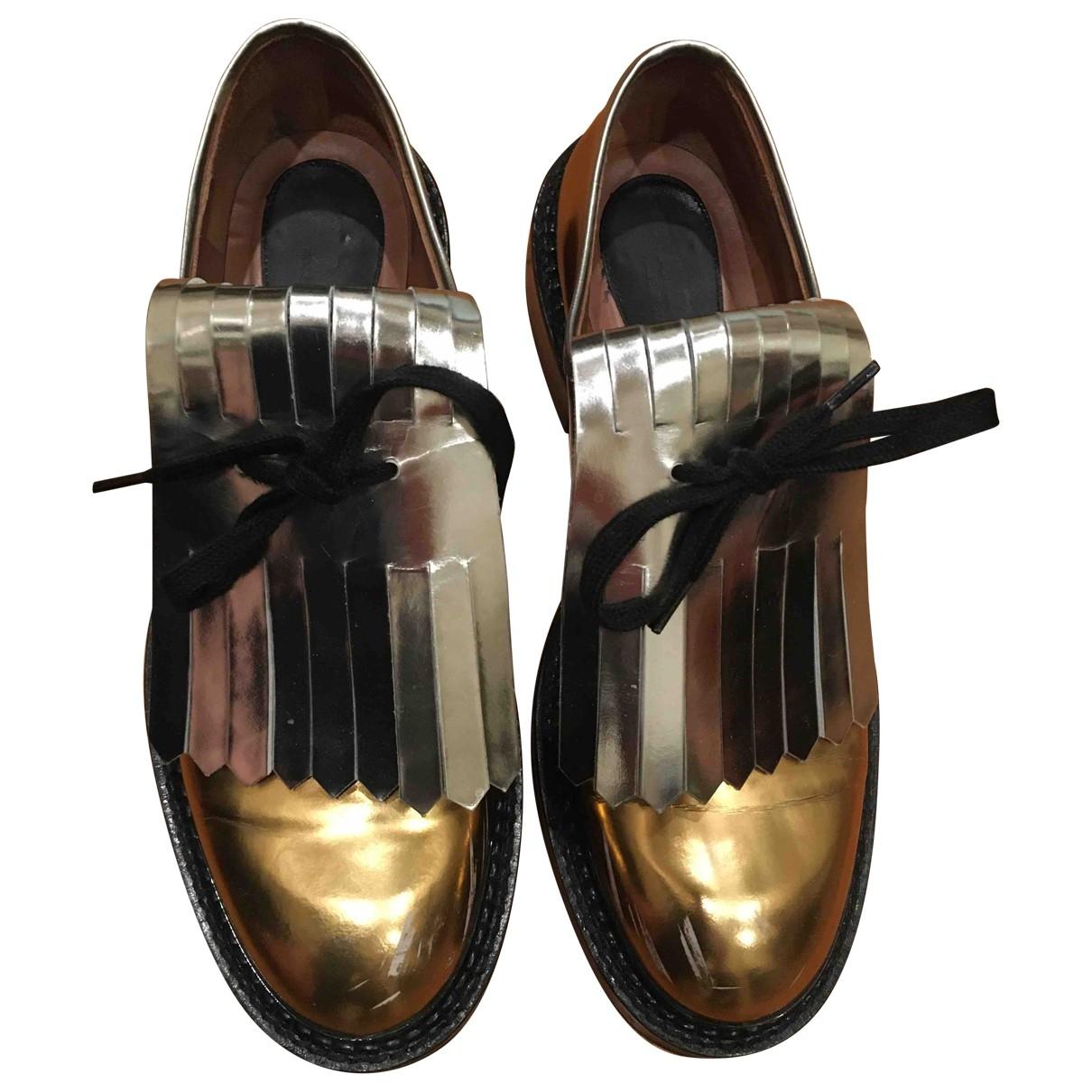 Marni \N Gold Leather Flats for Women 39 EU