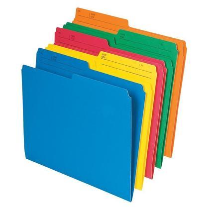 Pendaflex@ Chemises de classement, lettre, 8 1/2 po x 11 po, couleurs vari ees, paq./10 669820