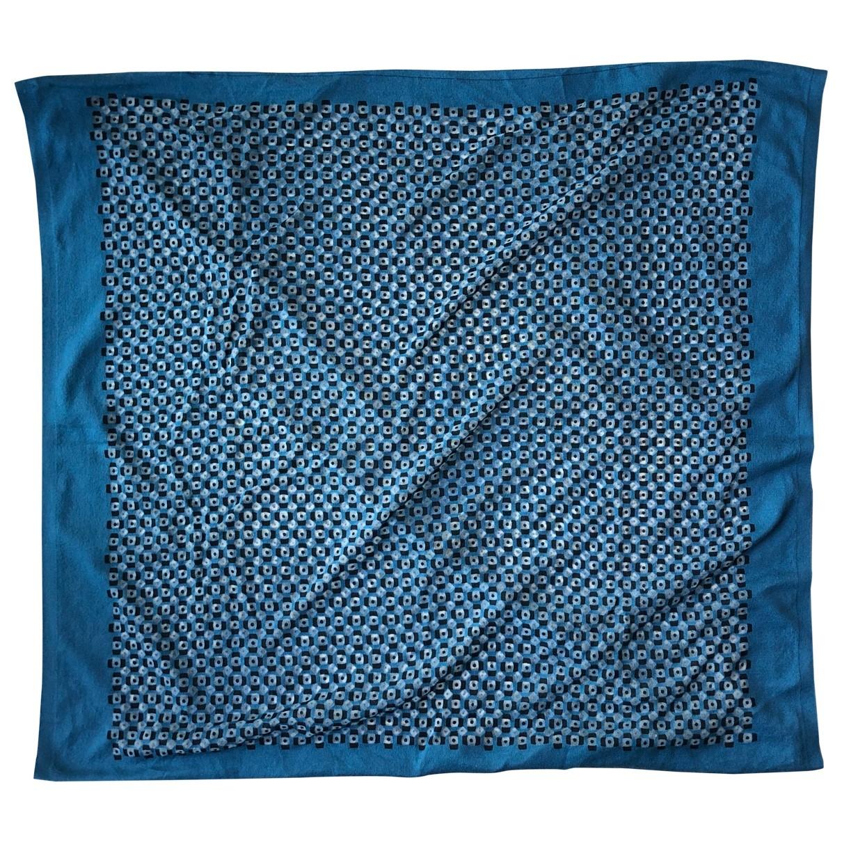 Hermes \N Tuecher, Schal in  Blau Baumwolle