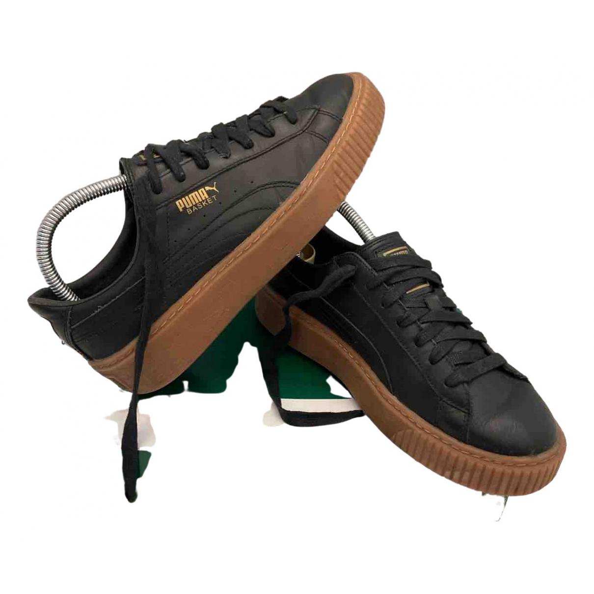 Puma \N Sneakers in  Schwarz Leder