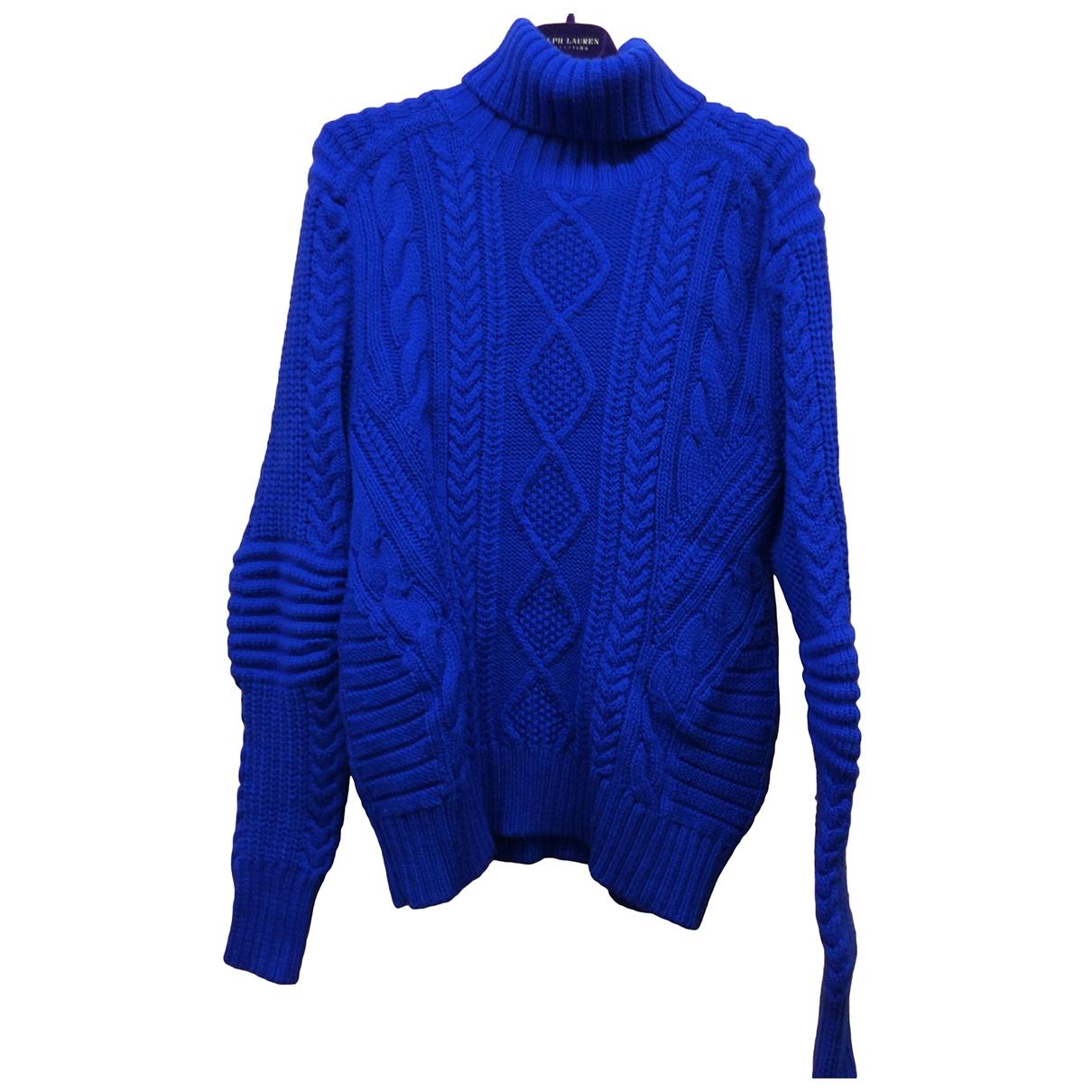 Polo Ralph Lauren - Pull   pour femme en laine - bleu