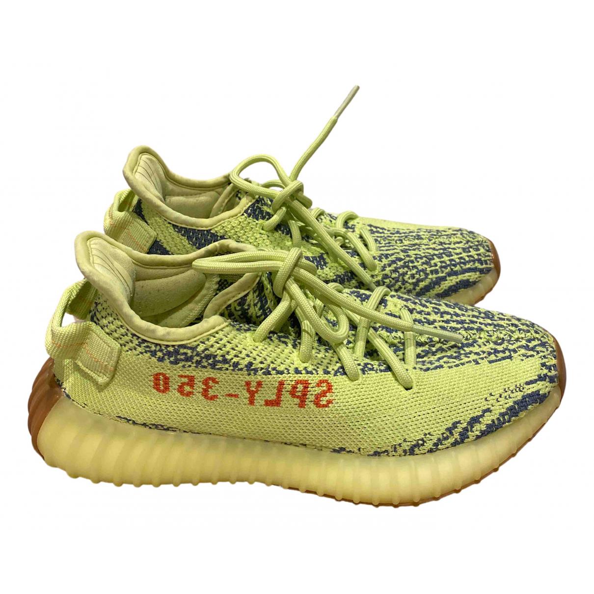 Yeezy X Adidas - Baskets   pour femme en toile - vert