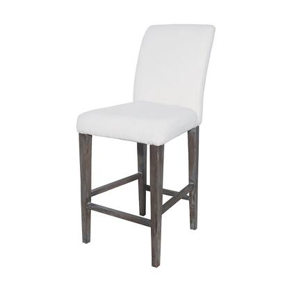 7011-124 Couture Covers Parsons Bar Stool  In Heritage Stain With White