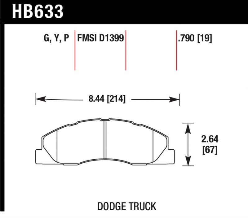 Hawk Performance HB633P.790 Disc Brake Pad Front