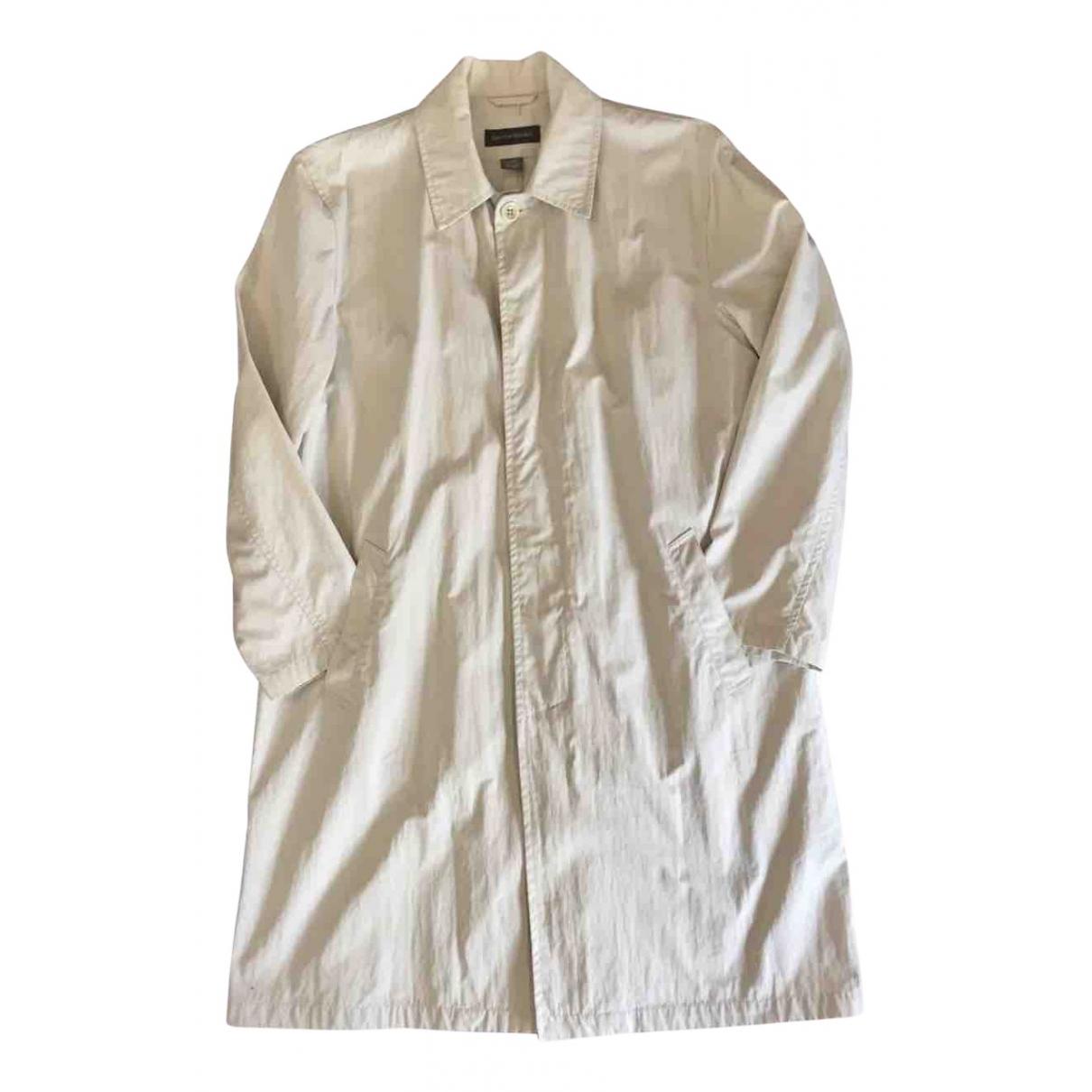 Banana Republic - Manteau   pour homme en coton - ecru