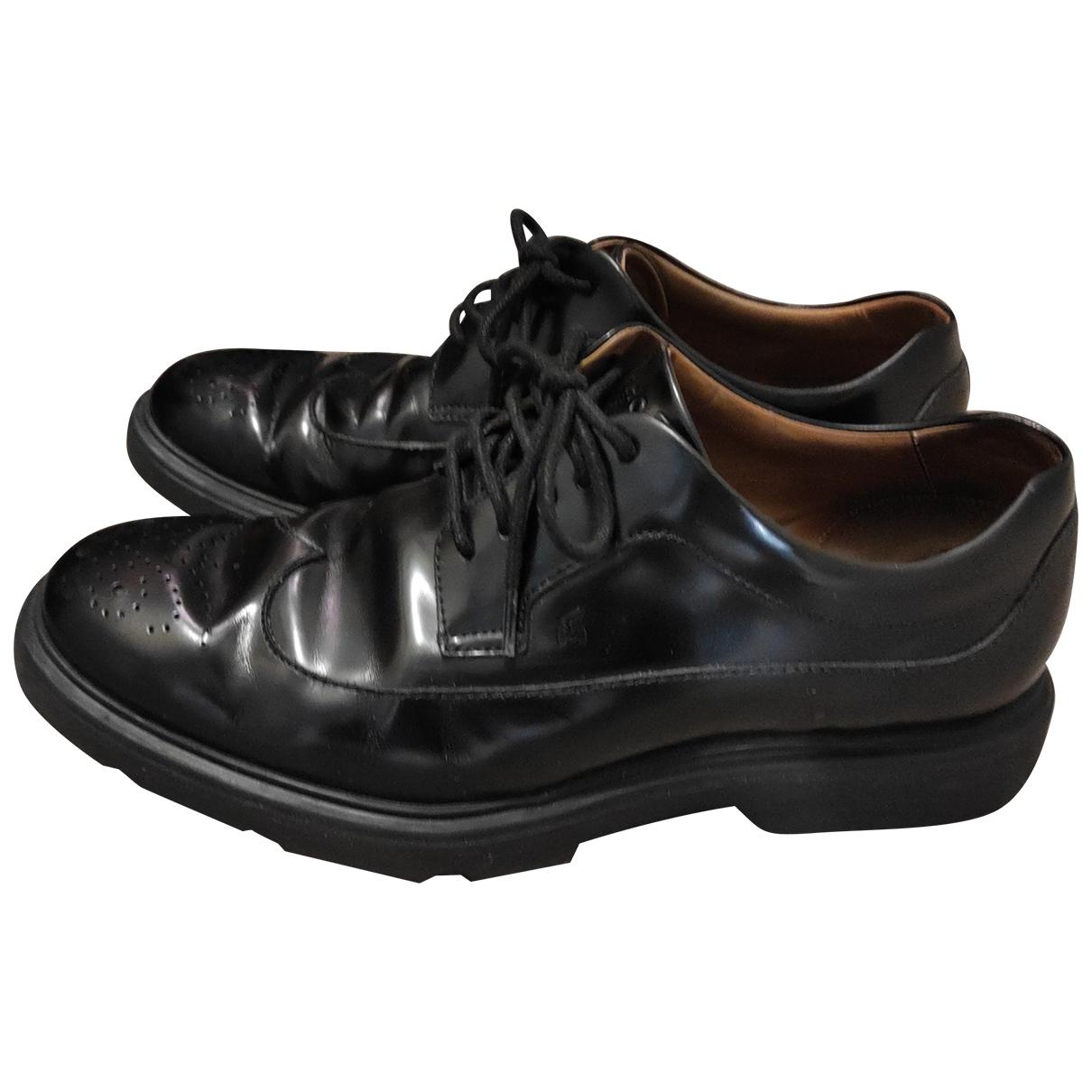 Hogan - Derbies   pour homme en cuir - noir