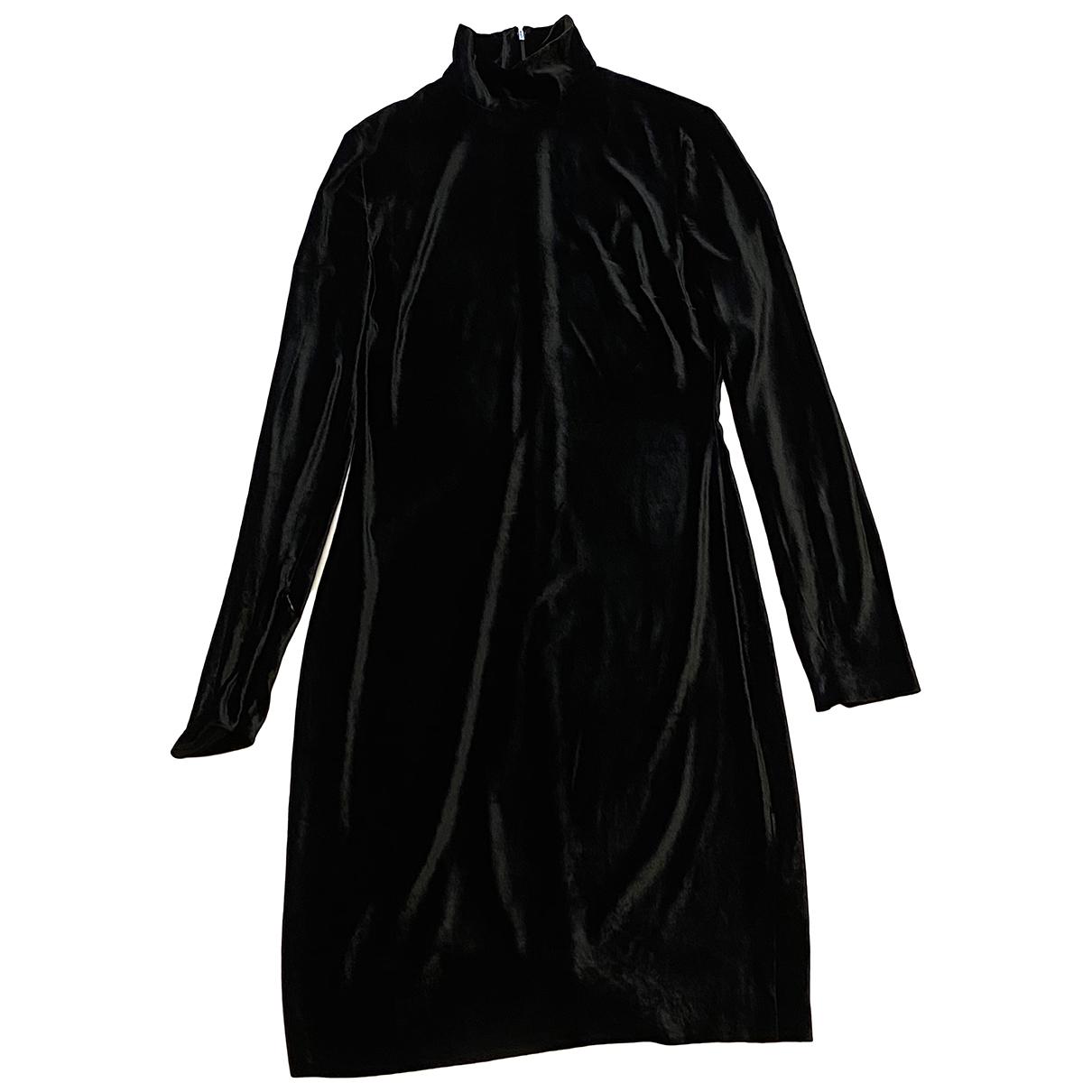 Ralph Lauren Collection \N Kleid in  Schwarz Samt