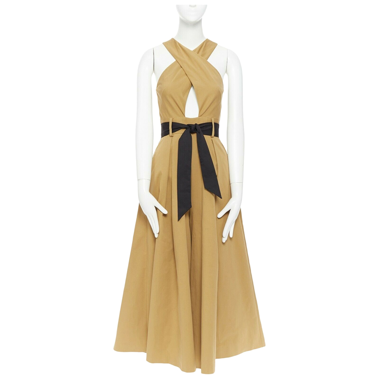 Temperley London \N Kleid in  Beige Baumwolle